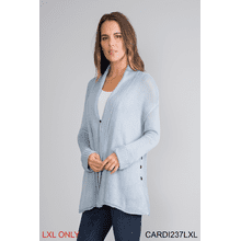 Side Button Rib Cardigan - L/XL (3 pc. ppk.)