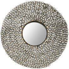 Jeweled Chain Mirror - Natural