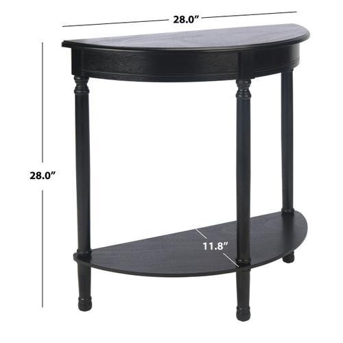 Safavieh - Tinsley Half Round Console Table - Black