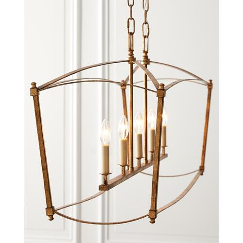 Thayer Linear Chandelier Antique Gild