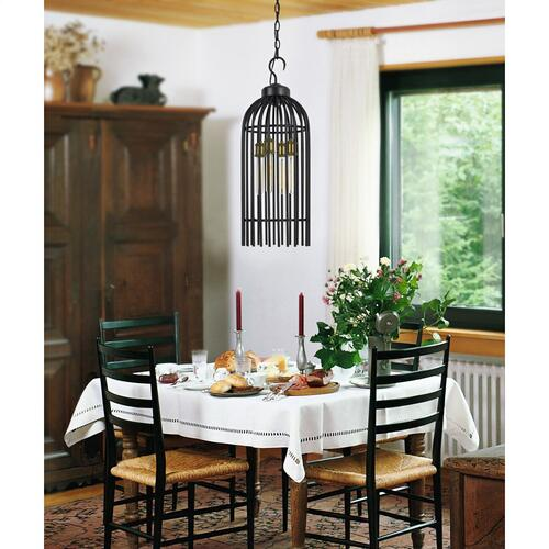60W X 4 Birdcage Metal Chandelier (Edison Bulbs Not included)