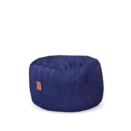 Product Image - Footstool - Plush Fur - Navy