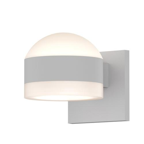 Sonneman - A Way of Light - REALS® Up/Down LED Sconce [Color/Finish=Textured White, Lens Type=Dome Lens and White Cylinder Lens]