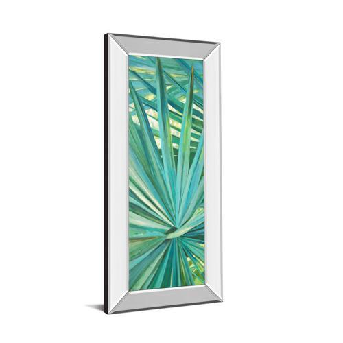 """Classy Art - """"Fan Palm I"""" By Suzanne Wilkins Mirror Framed Print Wall Art"""
