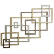 Modern Port 9 Contemporary Painted & Gloss Coated Metal Wall Sculpture