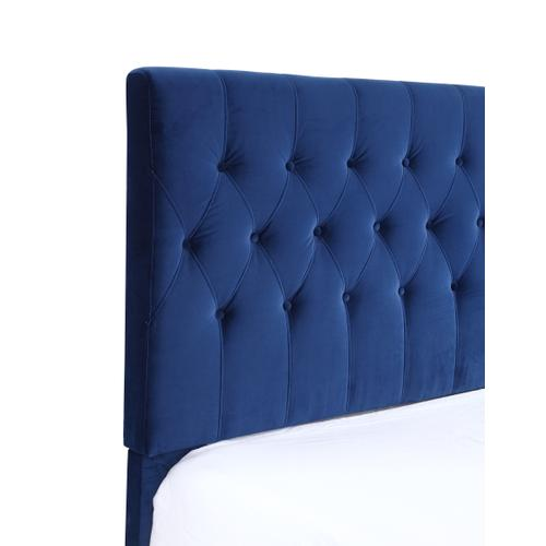 Amelia Twin Upholstered Bed, Navy B128-08hbfbr-14