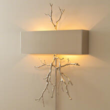 Twig Wall Sconce-Nickel-HW