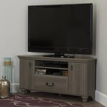 Corner TV Stand - Fits TVs Up to 55'' Wide - Gray Maple