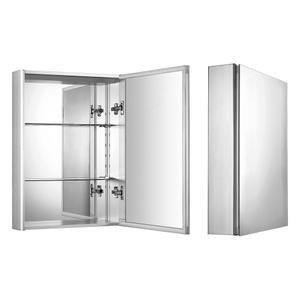 Medicinehaus single door anodized aluminum cabinet. Product Image