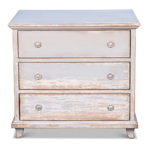 Commode, Grey & White