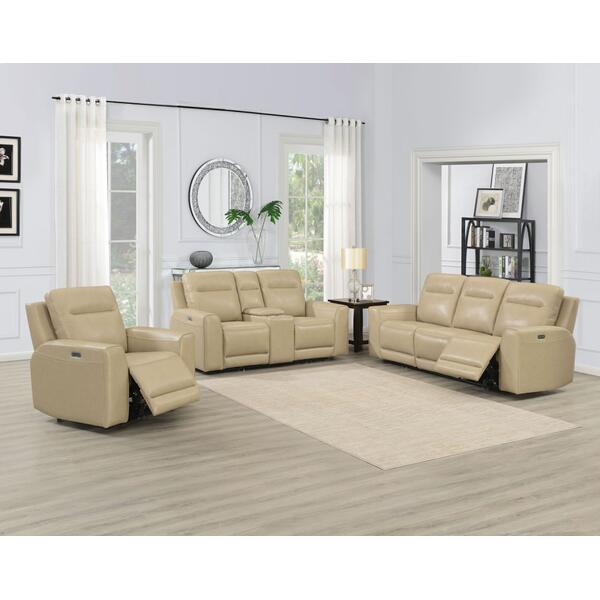 Doncella 3 Piece Dual Power Leather Reclining Set(Sofa, Loveseat & Chair)