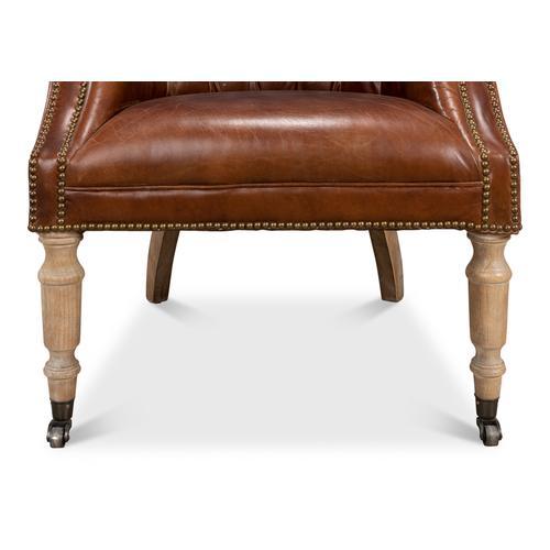 Welsh Leather Chair, Vintage Cigar