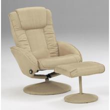 See Details - Camel Micro Fibre Recliner and Ottoman