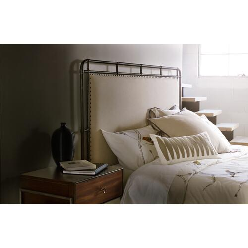 Studio 7H Slumbr King Metal Upholstered Bed