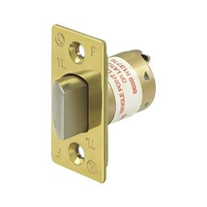 "GR1 Reg. Latch Pass/Priv, 2-3/8"" - Polished Brass"