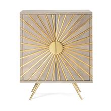 NK Felix Brass Cladding and Wood Cabinet