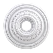 See Details - English Study Medallion 18 Inch in White Finish