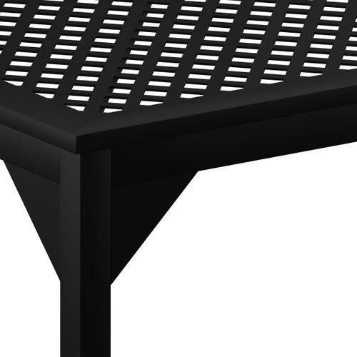 Accentrics Home - Metal Lattice Top Outdoor Dining Table