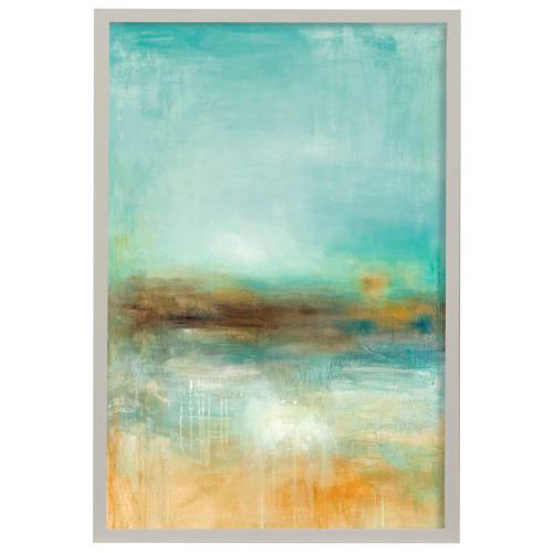 Style Craft - Let the Summer Sunshine  Made in USA  Artist Print  Faux Wood Frame Under Glass  Attached Hangin