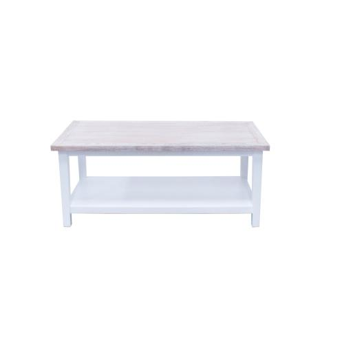 Capris Furniture - Coffee Table, Available in White Teak Finish.