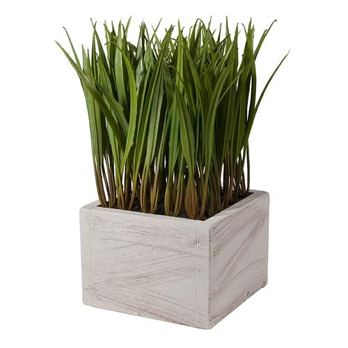 Faux-Grass Square Planter