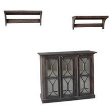 S/3 Durian Cabinet & Shelves