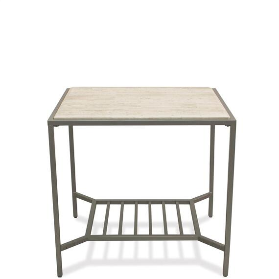 Riverside - Pinnacle - Rectangular Side Table - White Sands Finish