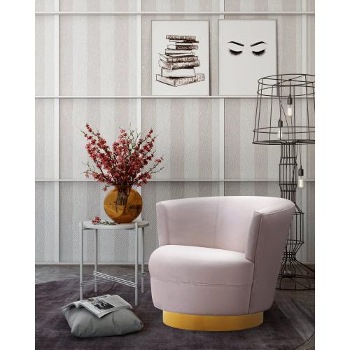 Noah Blush Velvet Swivel Chair