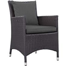 Convene Dining Outdoor Patio Armchair in Espresso Charcoal