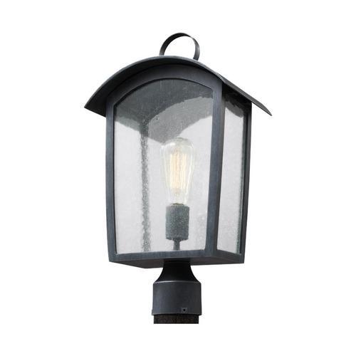 Hodges 1 - Light Outdoor Post Lantern Ash Black