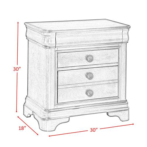 Cameron Cherry Nightstand Cherry