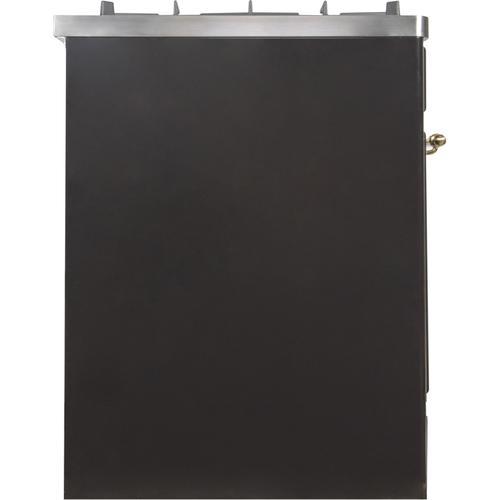 30 Inch Glossy Black Dual Fuel Liquid Propane Freestanding Range