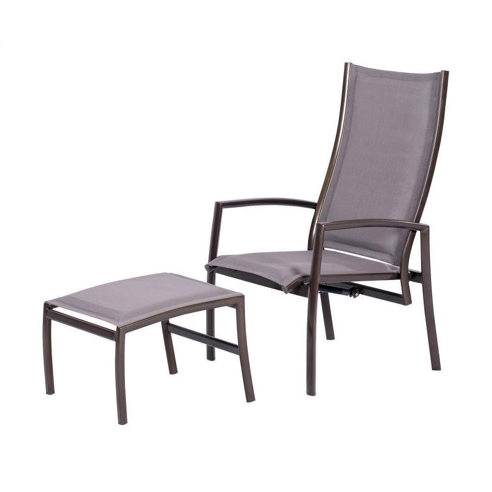 Emerald Home Talon Adjustable High Back Lounge Chair & Ottoman Bronze Ou1311-42-03-2pcset