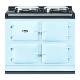 """AGA Total Control 39"""" Electric Duck Egg Blue with Stainless Steel trim"""