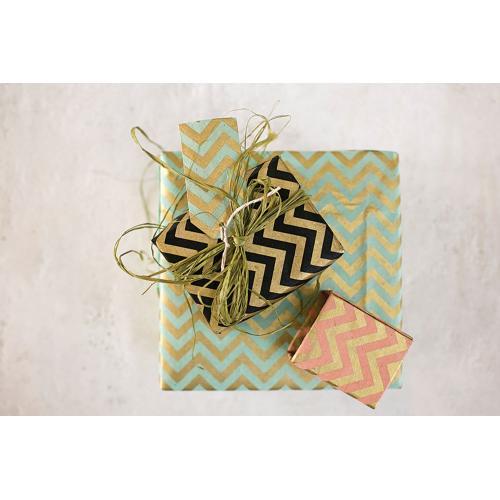 "20"" x 30"" x 3 sheets Black Gift Wrap (Zig Zag Option)"