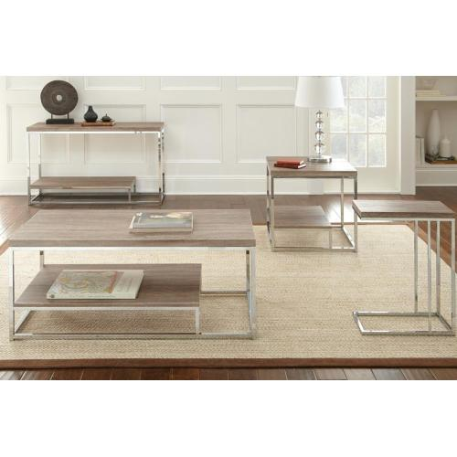 """Steve Silver Co. - Lucia Chairside End Table 18""""x10""""x25"""""""