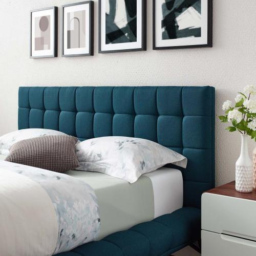 Modway - Julia Queen Biscuit Tufted Upholstered Fabric Platform Bed in Blue