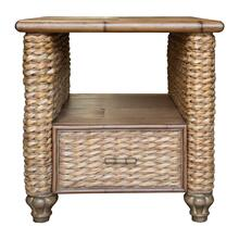 Lamp Table, Available in Antique Palm Finish Only.