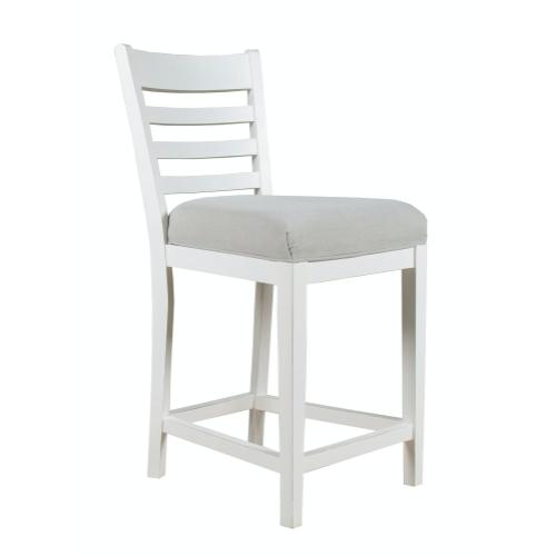 24'' Bar Stool, Available in Hampton White Finish Only.