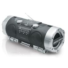 Portable CD/Radio/Stereo Cassette Player/Recorder with Powered Woofer