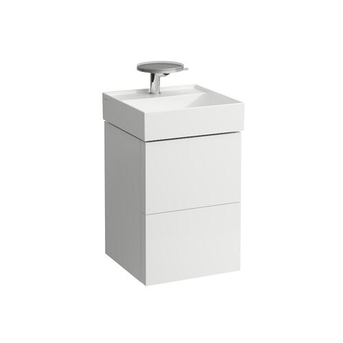 Grey Blue Vanity Unit with two drawers for washbasin 815331 (incl. organiser)