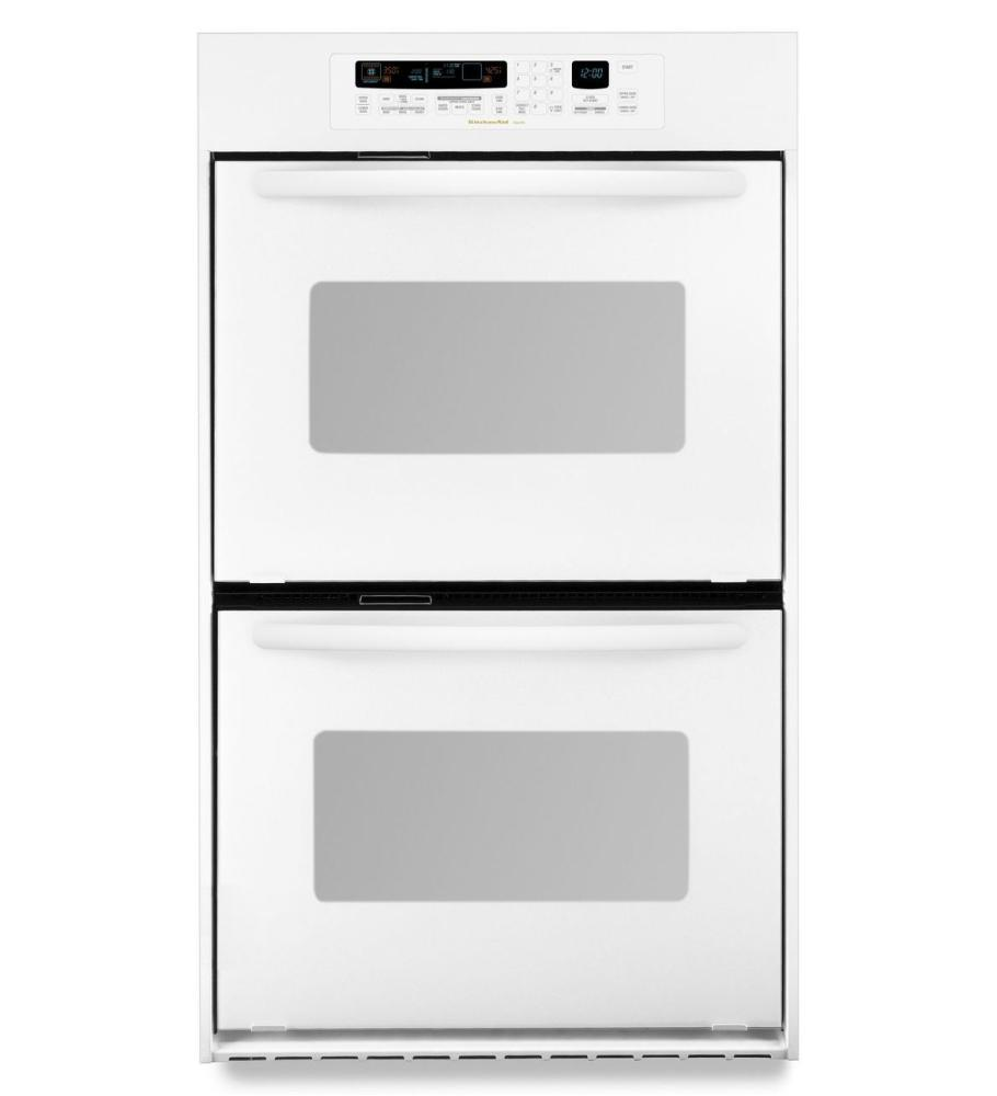 Kitchenaid24-Inch Convection Double Wall Oven, Architect® Series Ii Handles - White