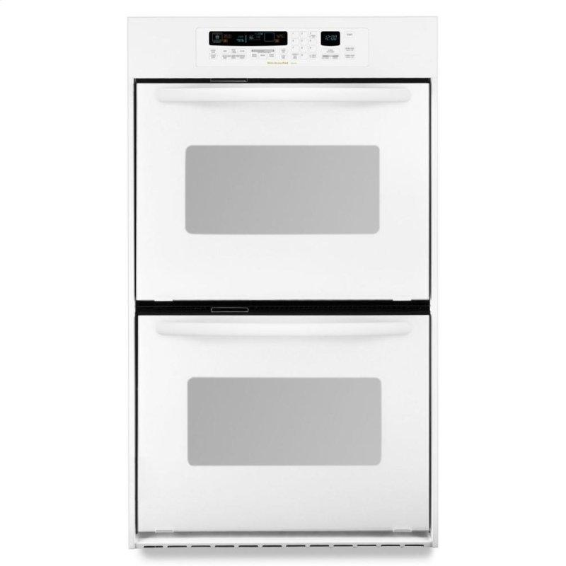 24-Inch Convection Double Wall Oven, Architect® Series II Handles - White
