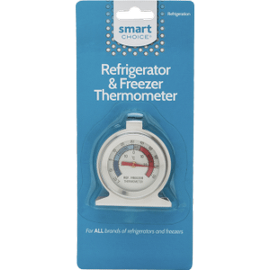 Smart Choice Refrigerator and Freezer Thermometer -