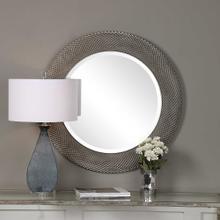 Aziza Silver Round Mirror