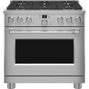 "Cafe Appliances36"" Smart Dual-Fuel Commercial-Style Range with 6 Burners (Natural Gas)"