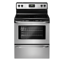 Frigidaire 30'' Freestanding Electric Range (This is a Stock Photo, actual unit (s) appearance may contain cosmetic blemishes. Please call store if you would like actual pictures). This unit carries our 6 month warranty, MANUFACTURER WARRANTY and REBATE NOT VALID with this item. ISI 37882 B