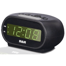 "ALARM CLOCK WITH .7"" GREEN DISPLAY AND NIGHTLIGHT"