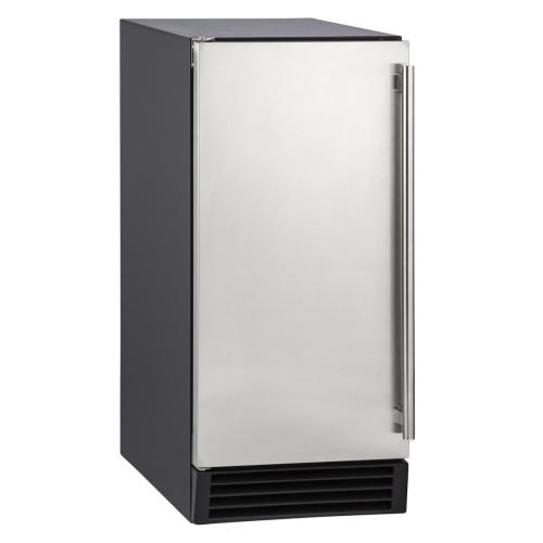 Maxx Ice - Maxx Ice 50 lb. Freestanding Icemaker with Drain Pump in Stainless Steel