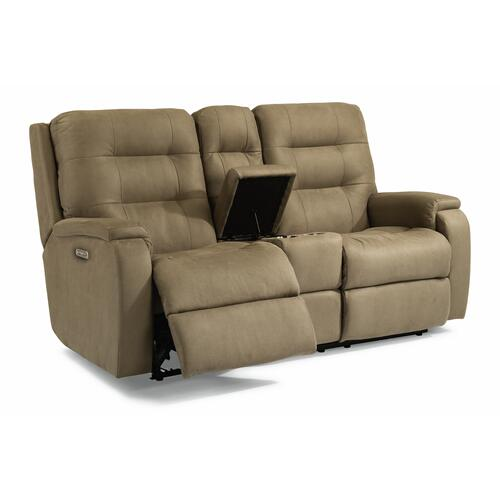 Gallery - Arlo Power Reclining Loveseat with Console and Power Headrests